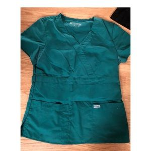 Greys Anatomy Green Scrub Top
